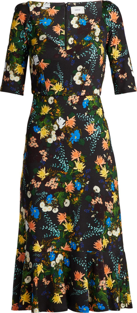 Erdem Glenys floral-print jersey midi dress