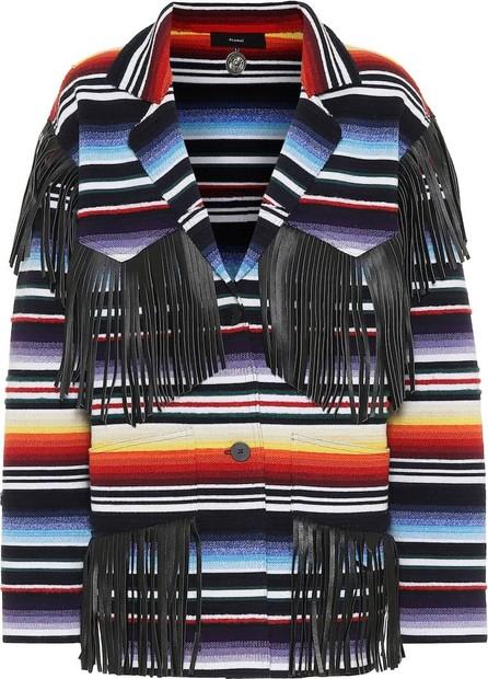 Alanui Leather-fringed cardigan