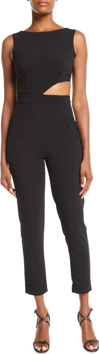 Misha Collection Eleanor Cutout Pantsuit w/ Pockets
