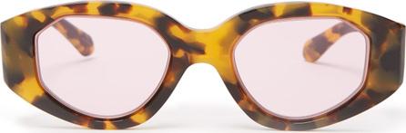 Karen Walker Castaway Crazy Tort tortoiseshell sunglasses