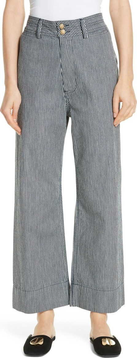 APIECE APART Merida Stripe Denim Wide Leg Pants
