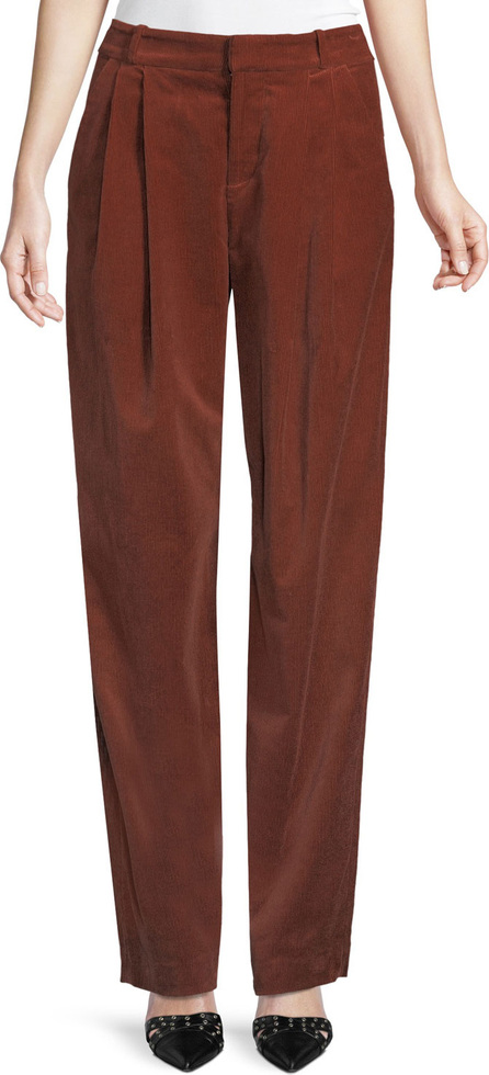 A.L.C. Tori Pleated Corduroy Wide-Leg Pants
