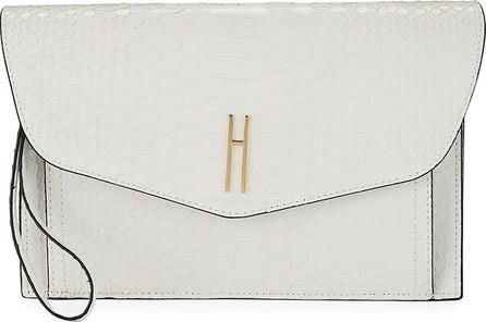 Hayward Bobby Medium Python Clutch Bag