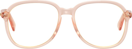 Gucci Orange Oversized Rounded Square Glasses