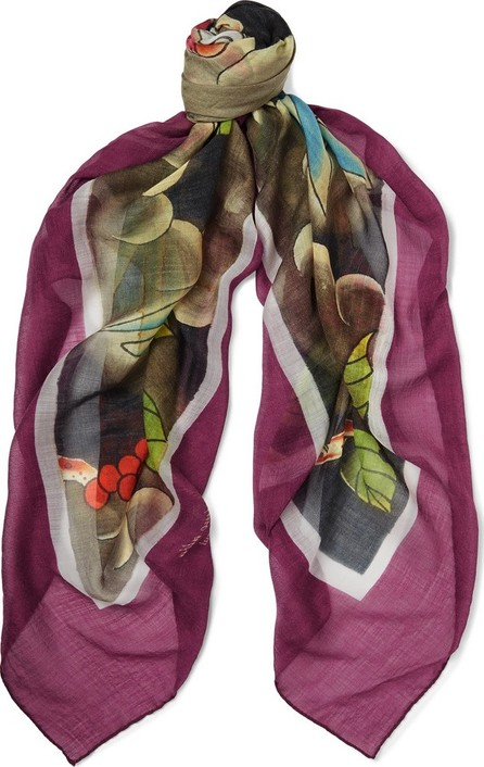 Massimo Alba Printed Cashmere, Silk and Wool-Blend Scarf