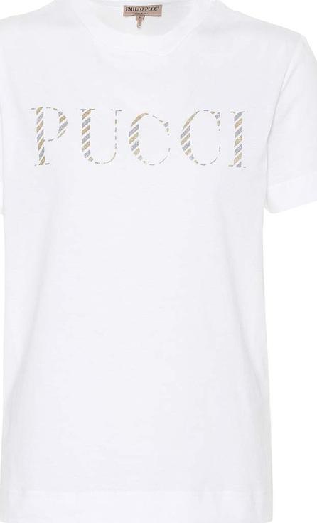 Emilio Pucci Logo-printed cotton T-shirt