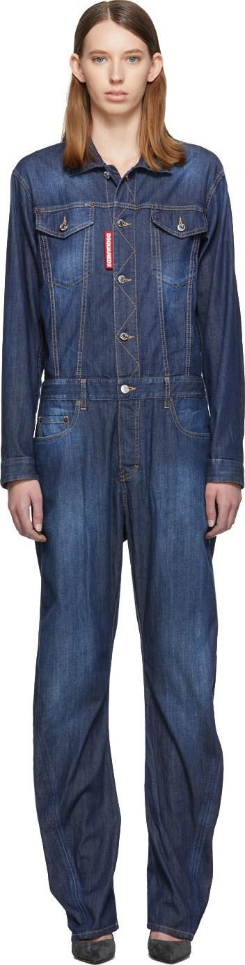 DSQUARED2 Blue Denim Jumpsuit
