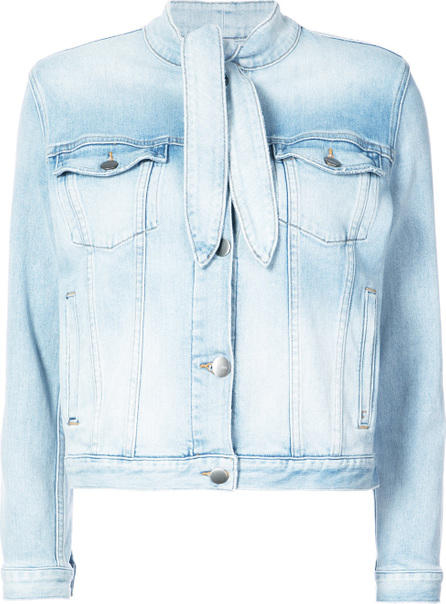 FRAME DENIM Denim tie neck jacket