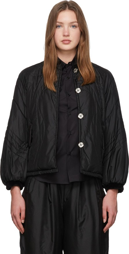 Renli Su Reversible Black Mulberry Silk Jacket