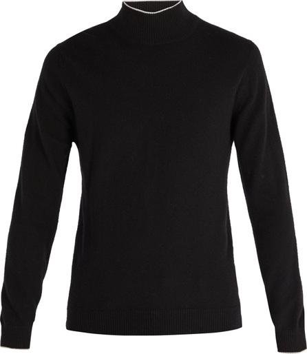 Altea Intarsia-stripe roll-neck wool sweater