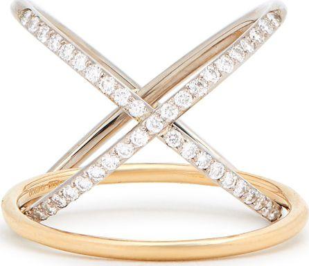 Charlotte Chesnais XO diamond & gold ring