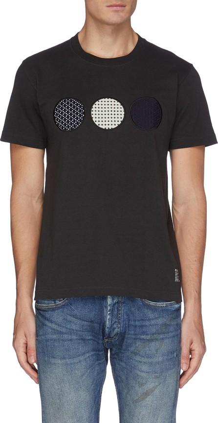 FDMTL Sashiko circle patch logo print T-shirt