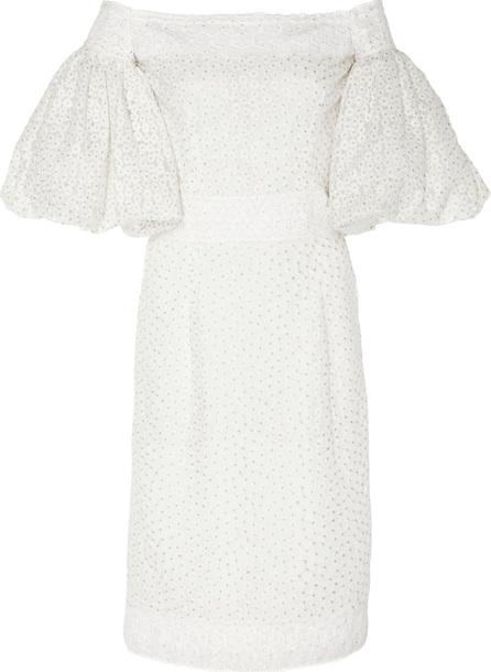 Costarellos Off-The-Shoulder Sheath Dress