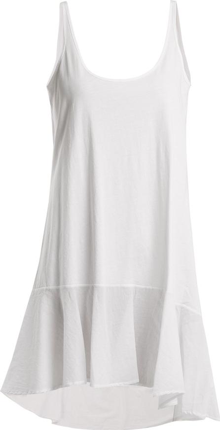 SKIN Lotti chemise asymmetric-hem dress