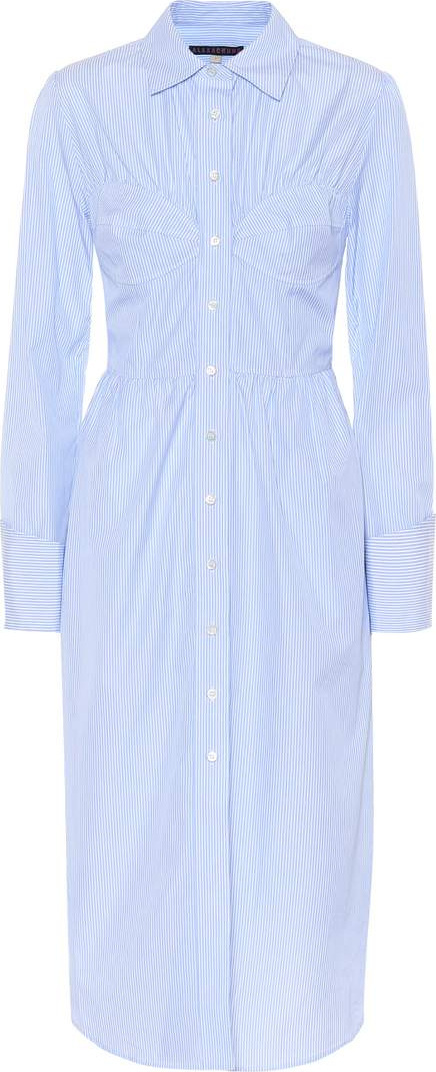 Alexachung Bustier cotton shirt dress