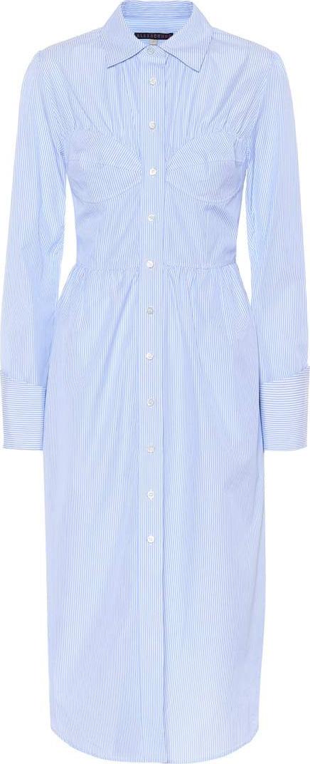 Alexachung Bustier cotton shirt dress