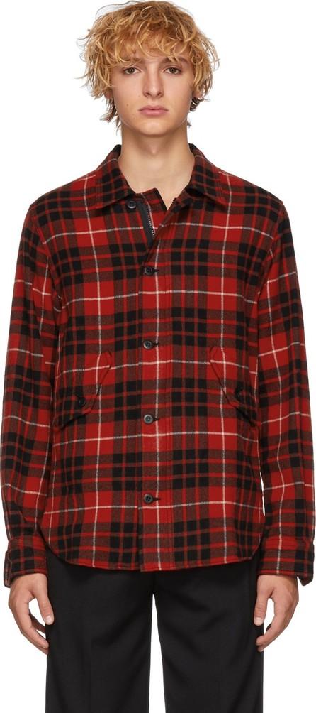 Comme des Garçons Homme Red & Black Check Tartan Shirt
