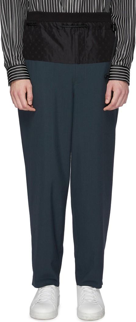 ETHOSENS Contrast waistband wool jogging pants