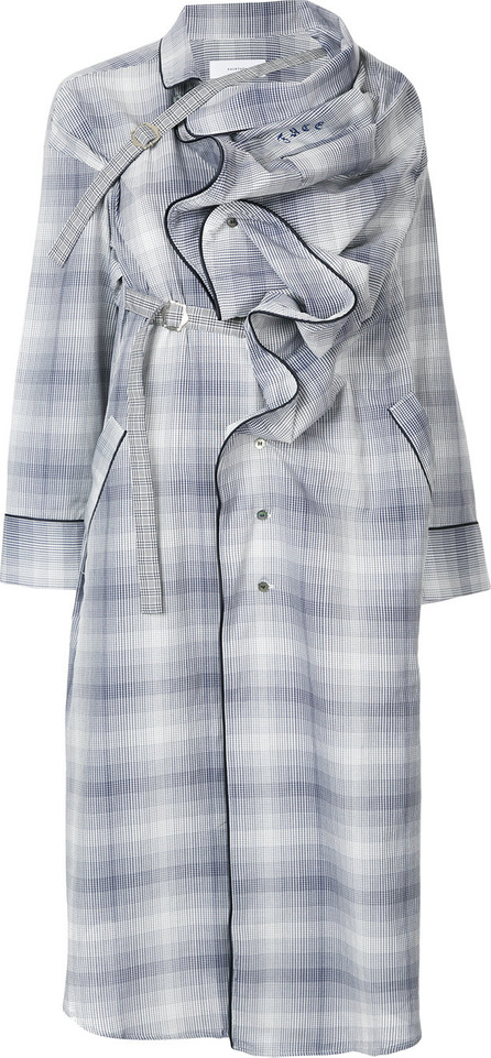 FACETASM Ruffle plaid coat
