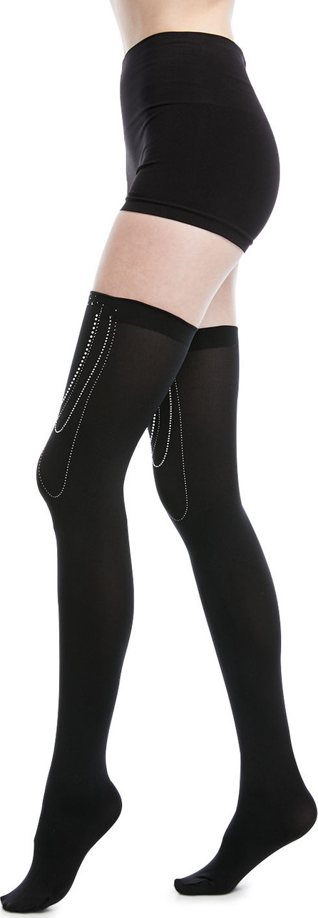Wolford Jewel-Embellished Stay-Up Thigh-Highs