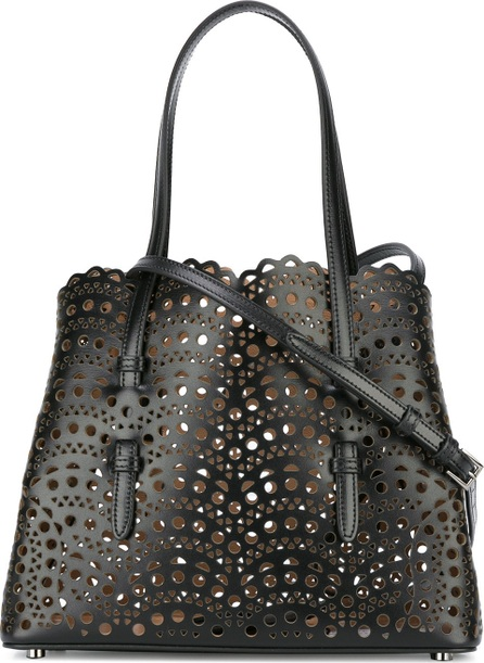 Alaïa perforated detail tote bag