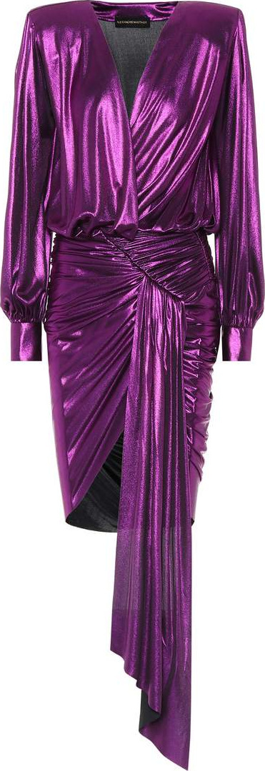 Alexandre Vauthier Asymmetrical lamé dress