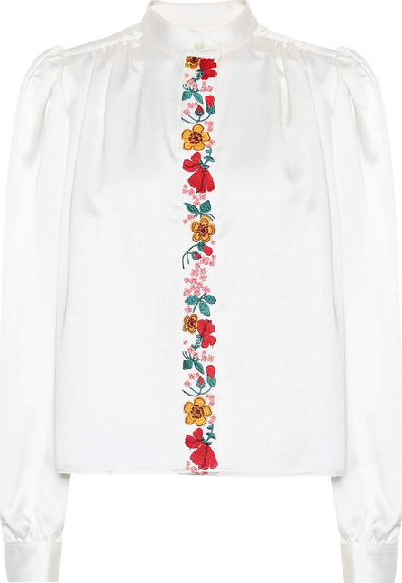 Alexachung Embroidered crêpe blouse
