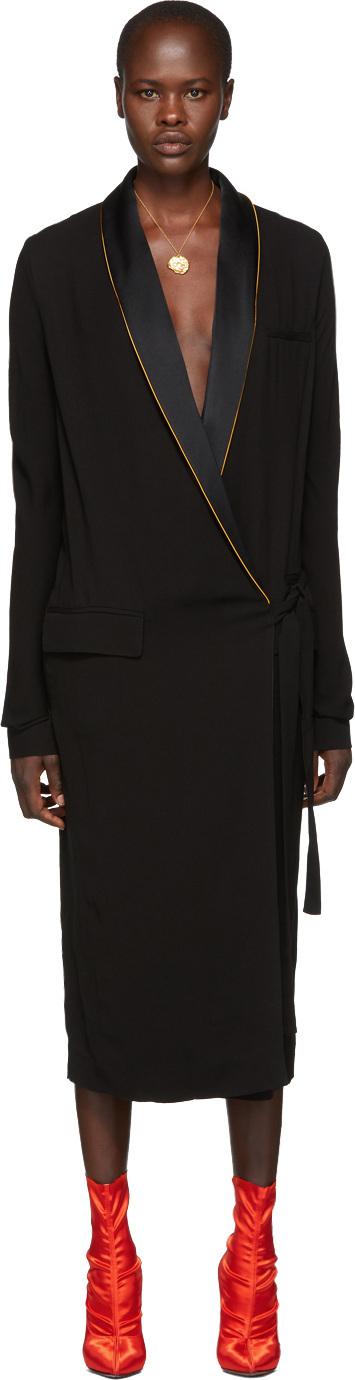 Haider Ackermann Black Durero Wrap Dress