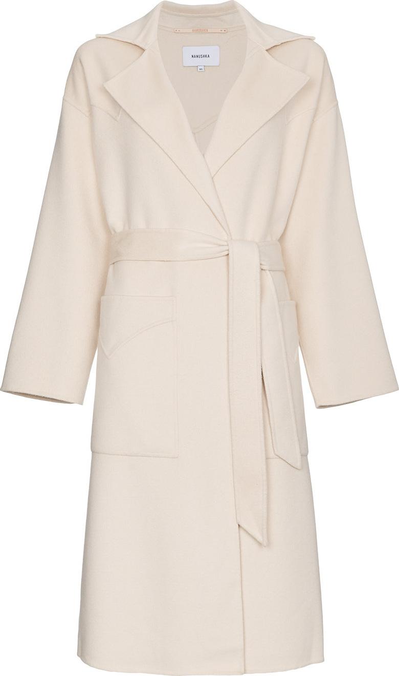 Nanushka - Silk blend long belted coat