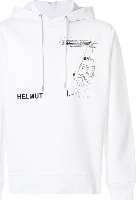 Helmut Lang Dog doodle print hoodie