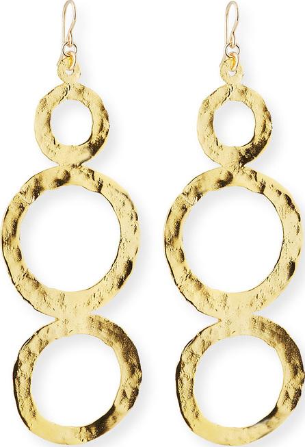 Devon Leigh Hammered Multi-Circle Drop Earrings