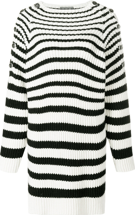 Alberta Ferretti Striped oversized jumper