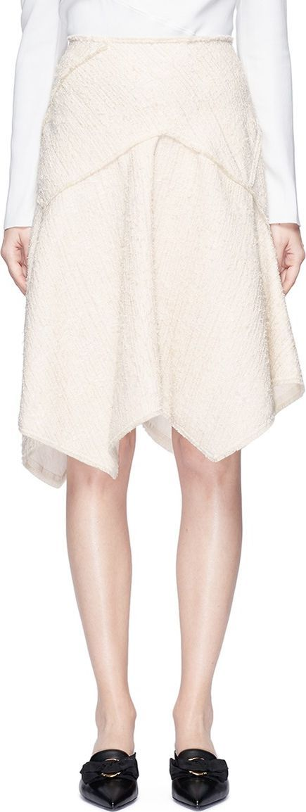 Proenza Schouler Asymmetric bouclé tweed skirt