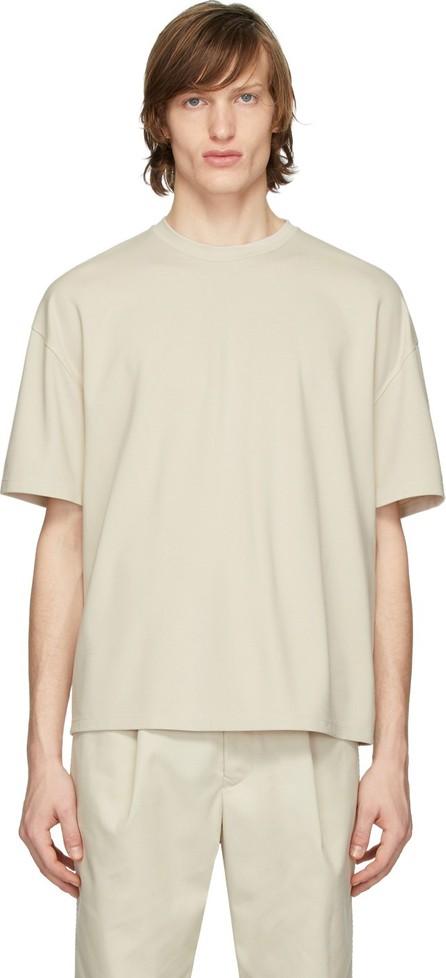 Deveaux New York Beige Oversized T-Shirt