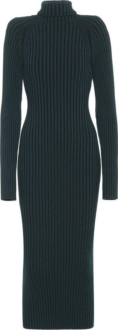 Haider Ackermann Wool and silk sweater dress