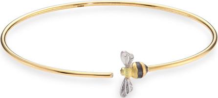 Annoushka Diamond & 18k Gold Bee Bangle Bracelet