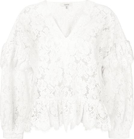 Ganni Jerome lace blouse