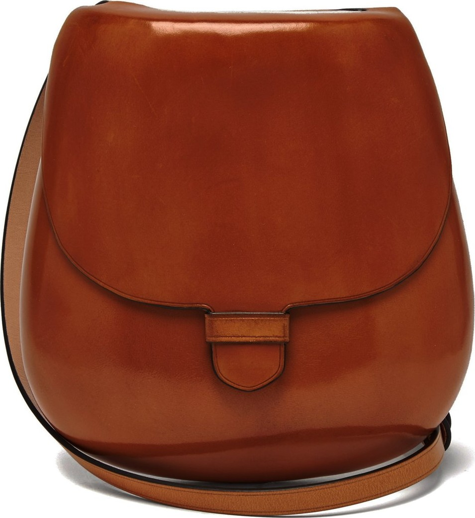 Lemaire Cartridge vegetable-tanned leather cross-body bag - Mkt