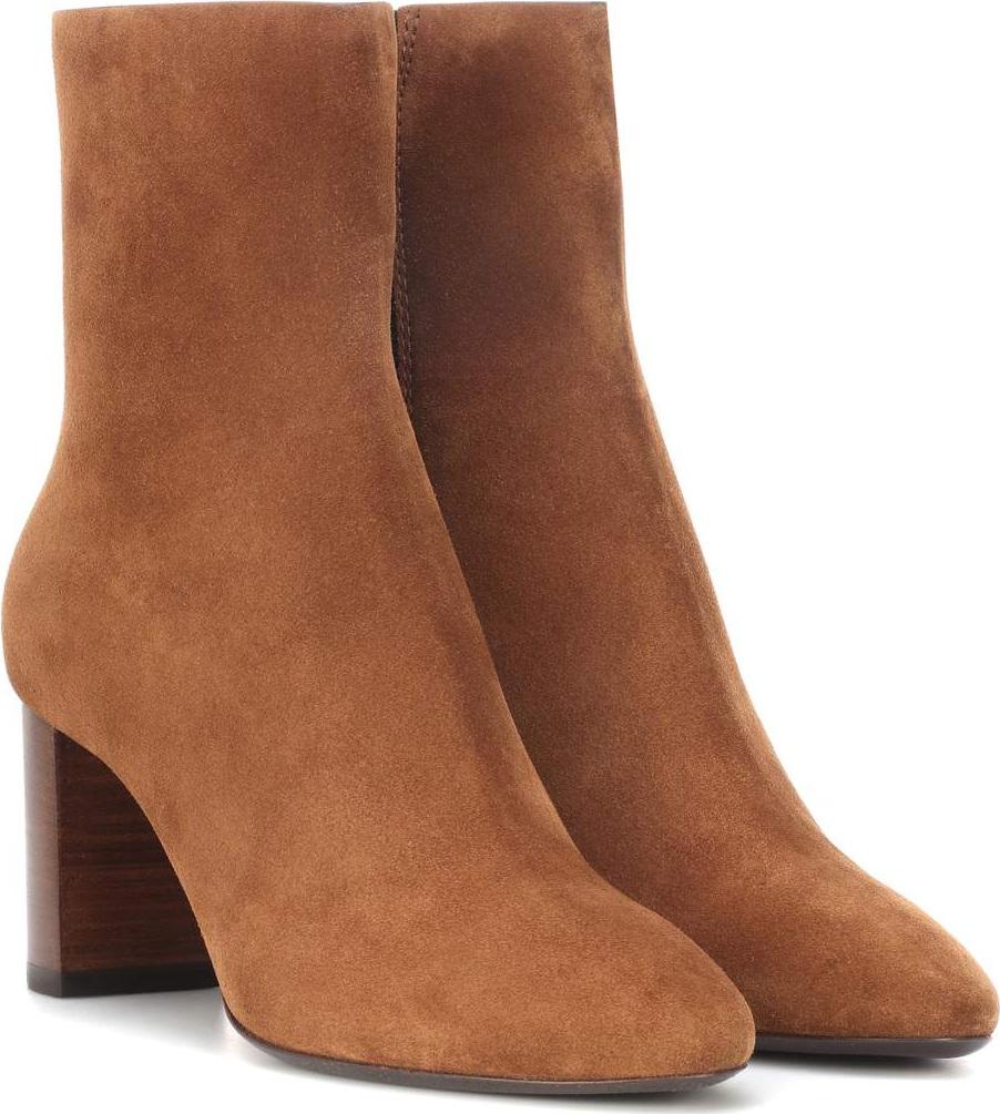 Saint Laurent - Lou 70 suede ankle boots