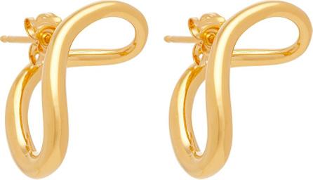 Charlotte Chesnais Slide gold-vermeil earrings