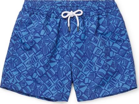 Frescobol Carioca Telha Short-Length Printed Swim Shorts