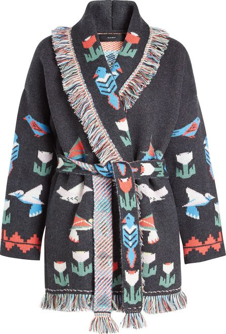 Alanui Tree Of Life Cashmere Cardigan with Belt
