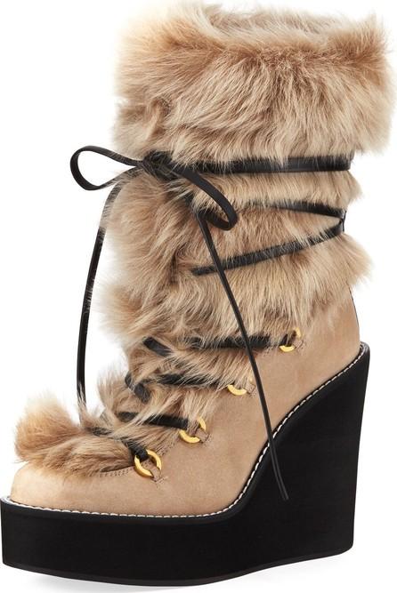 Stuart Weitzman Nikita Mid-Calf Fur Wedge Boots