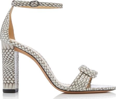 Alexandre Birman Vicky Knotted Snake-Effect Leather Sandals