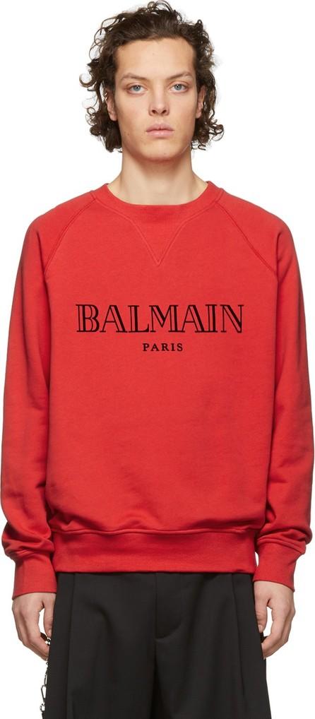 Balmain Red Logo Sweatshirt
