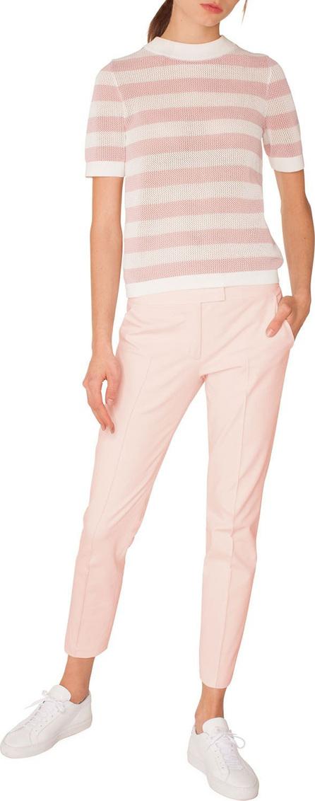 Akris Punto Frankie Straight-Leg Cotton-Stretch Cropped Pants