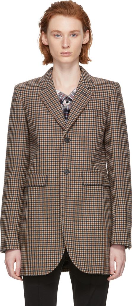 Balenciaga Brown Shaped Check Blazer