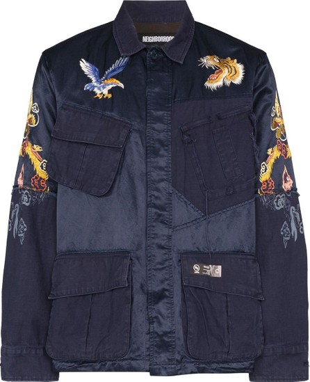 Neighborhood Souvenir embroidered shirt jacket