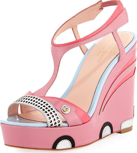 Kate Spade New York deanna car platform wedge sandal, petunia pink