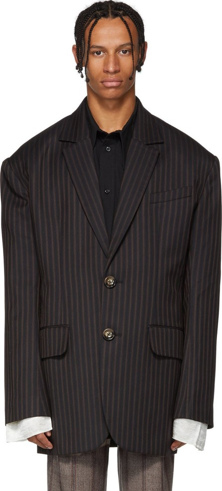 Chin Mens Black Stripe Jacket